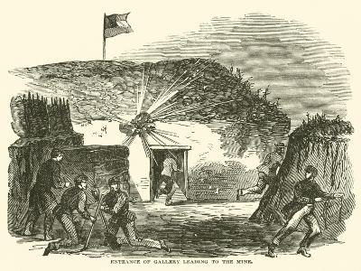 Entrance of Gallery Leading to the Mine, June 1863