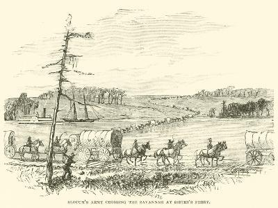 Slocum's Army Crossing the Savannah at Sister's Ferry, January 1865