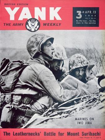 Marines on Iwo Jima', Cover from 'Yank' Magazine, 13th April 1945