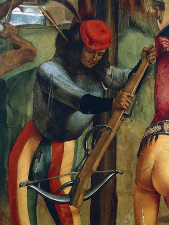 Crossbowman, Detail from Martyrdom of St Sebastian