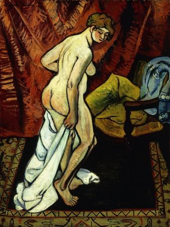 Standing Nude with Towel; Nu Debout Sa Drapant, 1919