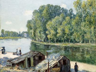 Huts Along the Canal Du Loing, Effect of Sunlight, 1896