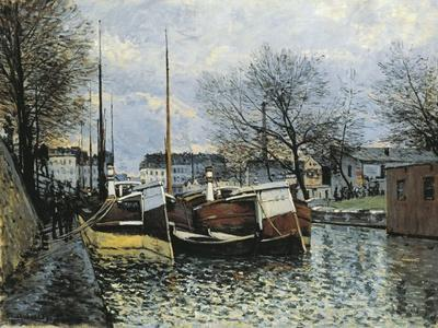 Barges on Canal Saint Martin, 1870