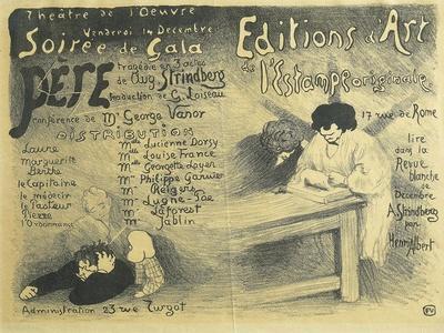 Paris Opera Programme, Including Works by August Strindberg, 1894