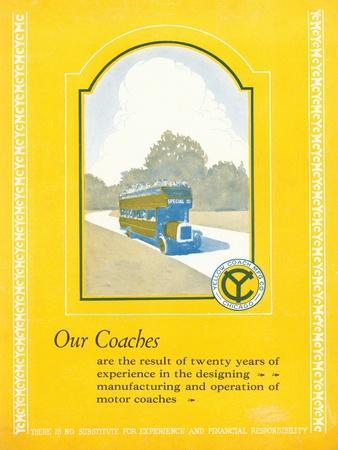 Advertisement for the Yellow Coach Manufacturing Company, C.1923