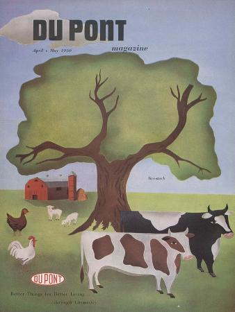 Livestock, Front Cover of 'The Du Pont Magazine', April-May 1950