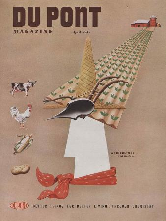 Agriculture and Du Pont, Front Cover of 'The Du Pont Magazine', April 1947