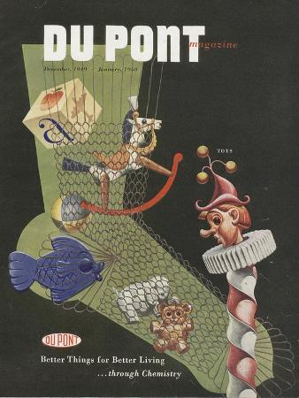 Toys, Front Cover of the 'Dupont Magazine', December 1949-January 1950