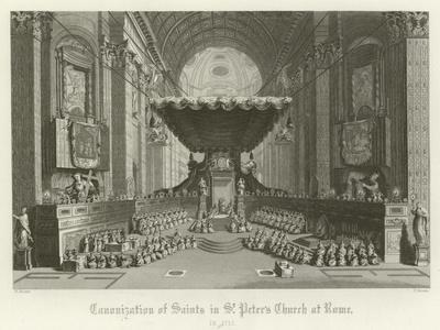Canonisation of Saints in St Peter's Church, Rome, 1712