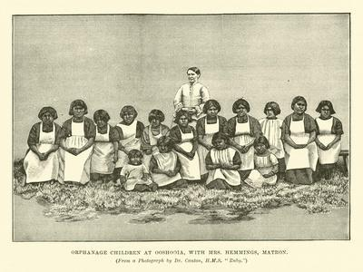Orphanage Children at Ooshooia, with Mrs Hemmings, Matron