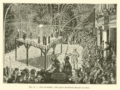 Feu D'Artifice, Tire Place Du Palais-Royal En 1644