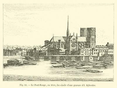 Le Pont-Rouge, En 1650; Fac-Simile D'Une Gravure D'I Sylvestre