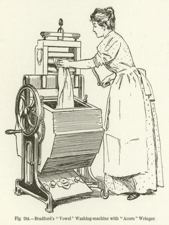 "Bradford's ""Vowel"" Washing-Machine with ""Acorn"" Wringer"