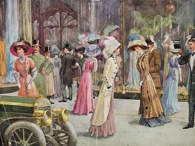 The Exterior of Harrod's Department Store, Fashion Plate, 1909