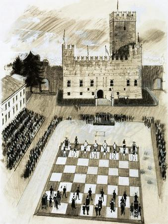 A Giant Game of Chess Is Part of a Festival at the Town of Marcostica