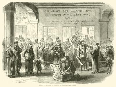 Tools in Pledge Returned to Workmen at Paris, December 1870