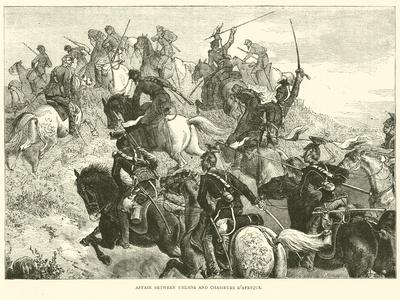 Affair Between Uhlans and Chasseurs D'Afrique, August 1870
