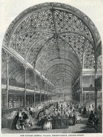 The London Crystal Palace, Regent Circus, Oxford Street, 1858