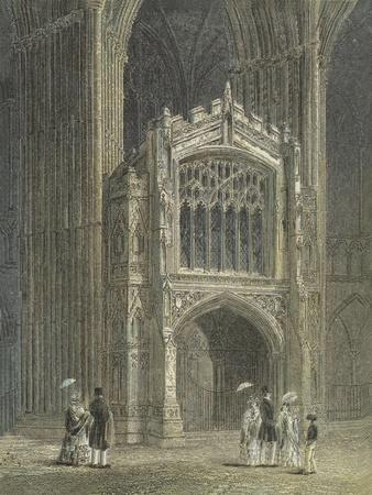 Peterborough Cathedral, View of the Porch, West End