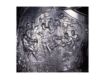 Mythological Scene, Embossed Decoration from Armor of Henry II of Valois