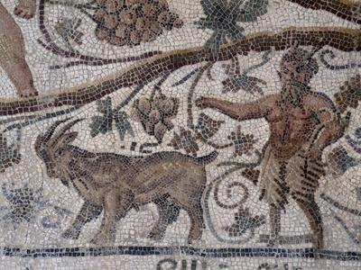 Satyr and Goat, Detail from So-Called Mosaic of Silenus of Thysdrus