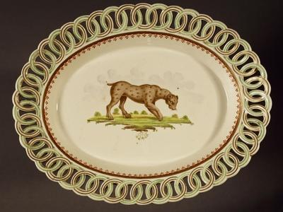 Plate with Openworked Edging, Circa 1800, Stoneware