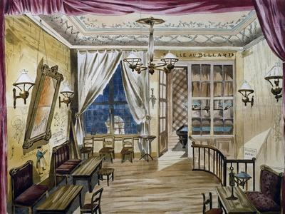 Set Design for Act I of La Boheme, Opera by Ruggero Leoncavallo