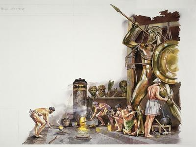 Ancient Athens - Reconstruction of a Bronze Sculpture Workshop
