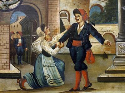 Side of Sicilian Cart Depicting Scenes from Opera Cavalleria Rusticana
