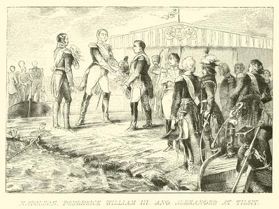 Napoleon, Frederick William III and Alexander at Tilsit