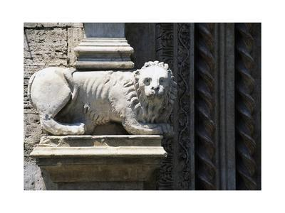 Column-Bearing Lion, Main Entrance, Palazzo Dei Priori