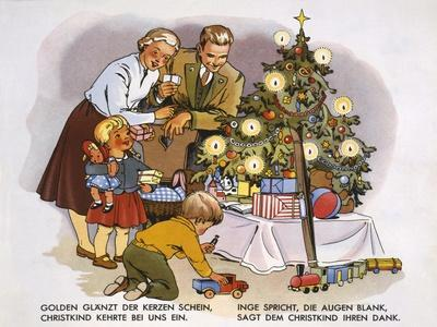 Christmas Presents, Illustration from a Children's Book, C.1950