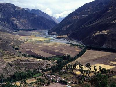 A Valley and the Vilcanota River, Sacred to the Inca People, Pisac