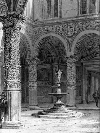 Detail of the Courtyard of the Palazzo Vecchio, 1842