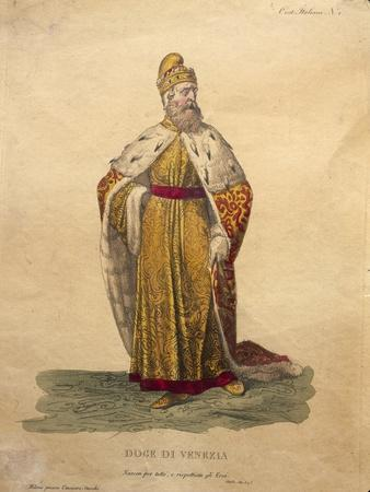 Costume Design for the Doge of Venice, from 'Othello'