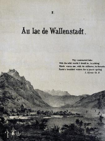 Title Page of Score for at Lake of Wallenstadt