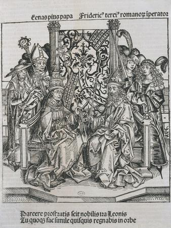 Meeting Between Pope Pius II and Frederick III, Emperor of Germany