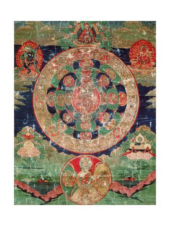 Bardo Mandala, Thangka Showing the Period Between Death and Reincarnation