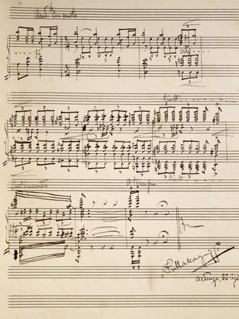 Handwritten Sheet Music for Si