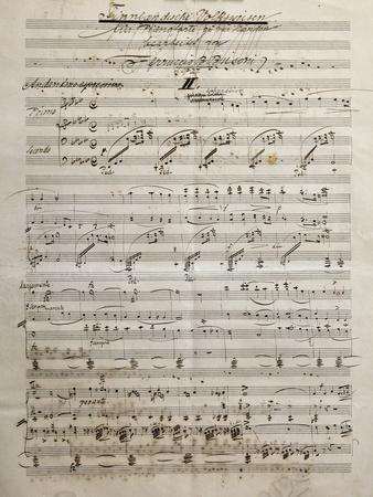 Autograph Sheet Music of Finnlandische Volksweisen