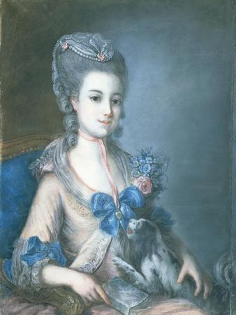 Portrait of Young Girl with Dog