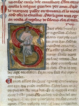 Illuminated Page from the Songbook, by Rambaldo Di Vaqueiras