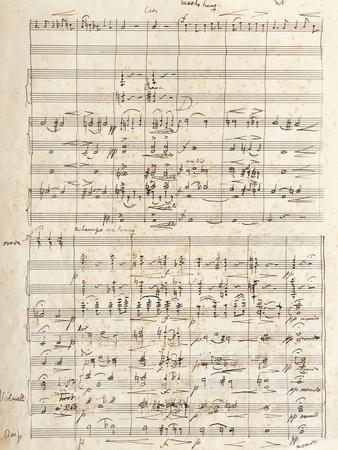 Handwritten Score for Solveigs Vuggesang, Opus 23