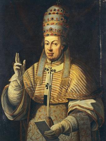 Portrait of Pope Pius VI, Born Giovanni Angelico or Giannangelo Braschi