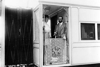King George V and Queen Mary on Board the Royal Train, India, 1911