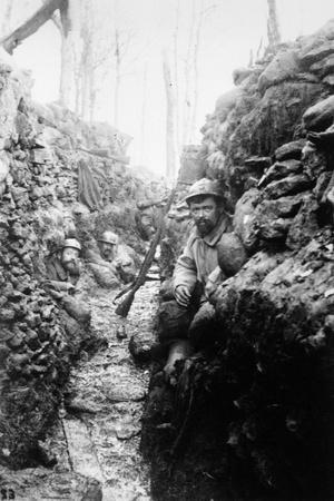 A French Trench at Bois-Le-Pretre, Le Mouchoir, 1915
