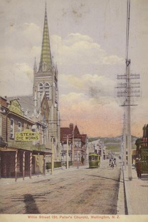 Willis Street and St Peter's Church, Wellington, New Zealand