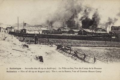 Salonika on Fire, Greece, World War I, 18-20 August 1917