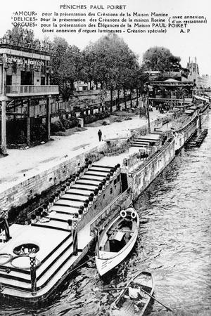 Barges of Paul Poiret at the Exposition Des Arts Décoratifs, Paris, 1925