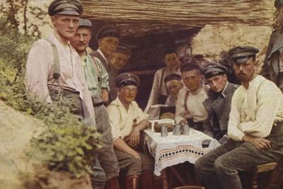 Coffee Table in a German Trench, World War I, 1914-1916